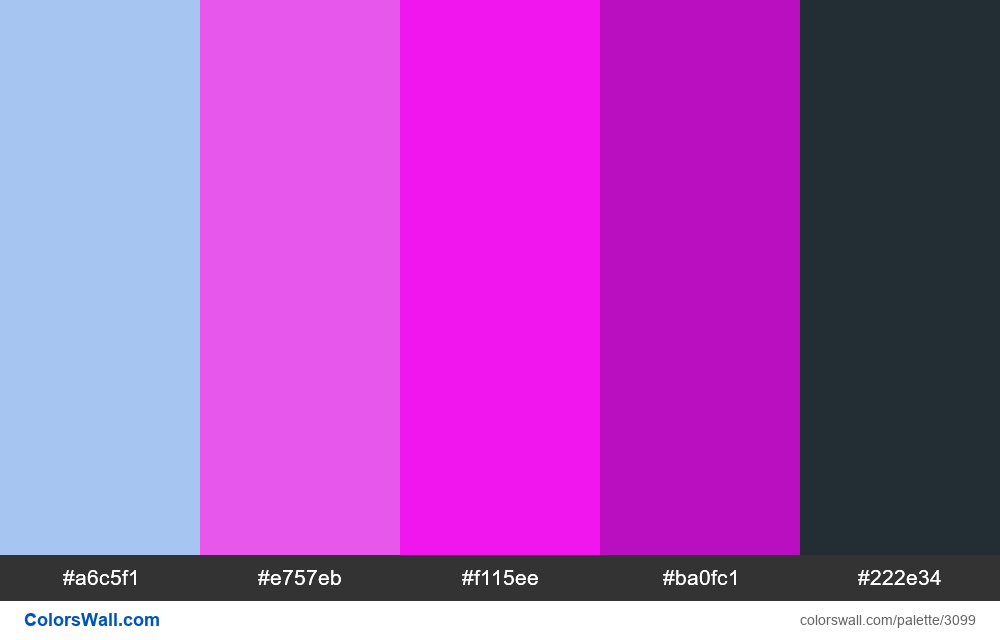 Daily colors palette #221 - #3099