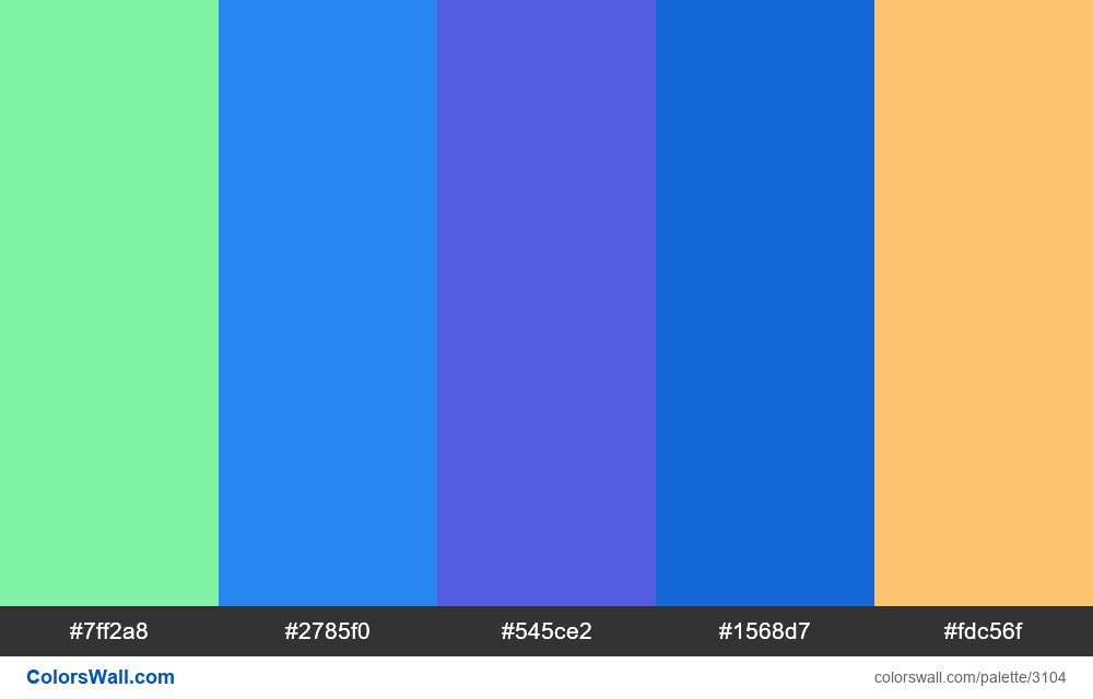 Daily colors palette #226 - #3104