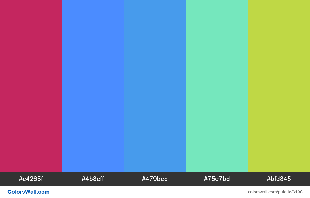 Daily colors palette #228 - #3106