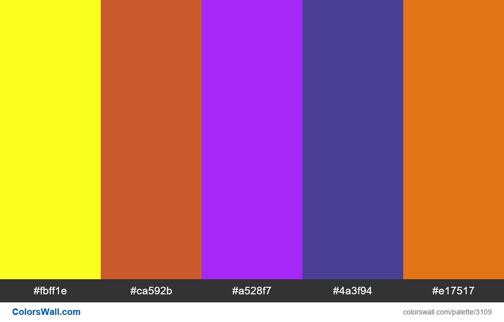 Daily colors palette #229 - #3109