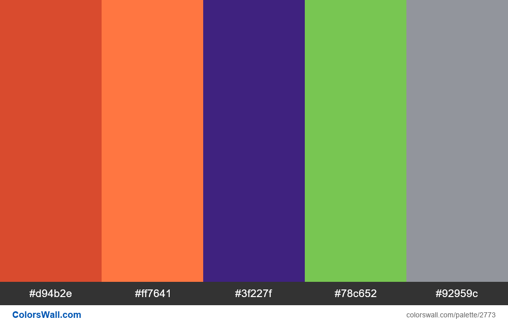 Daily colors palette #27 - #2773