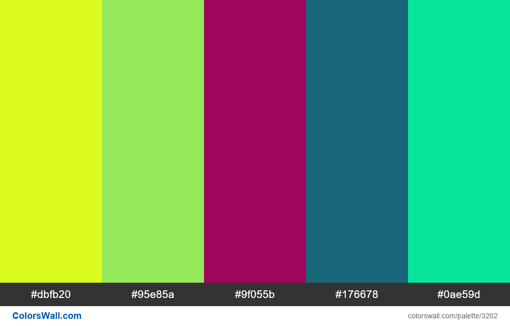 Daily colors palette #273 - #3202