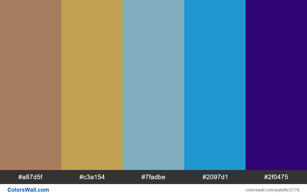Daily colors palette #28 - #2776