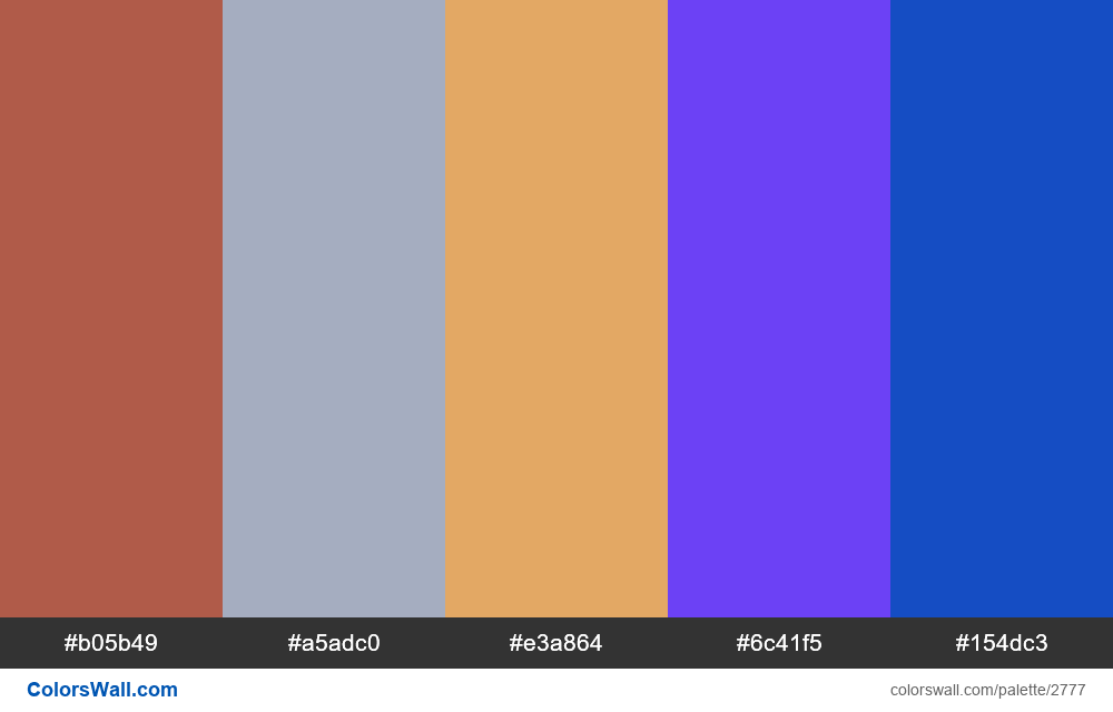 Daily colors palette #29 - #2777