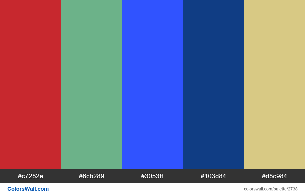 Daily colors palette #3 - #2738