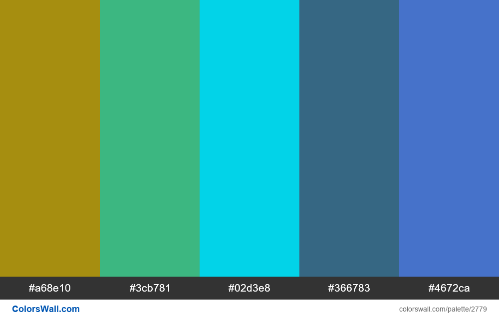 Daily colors palette #31 - #2779