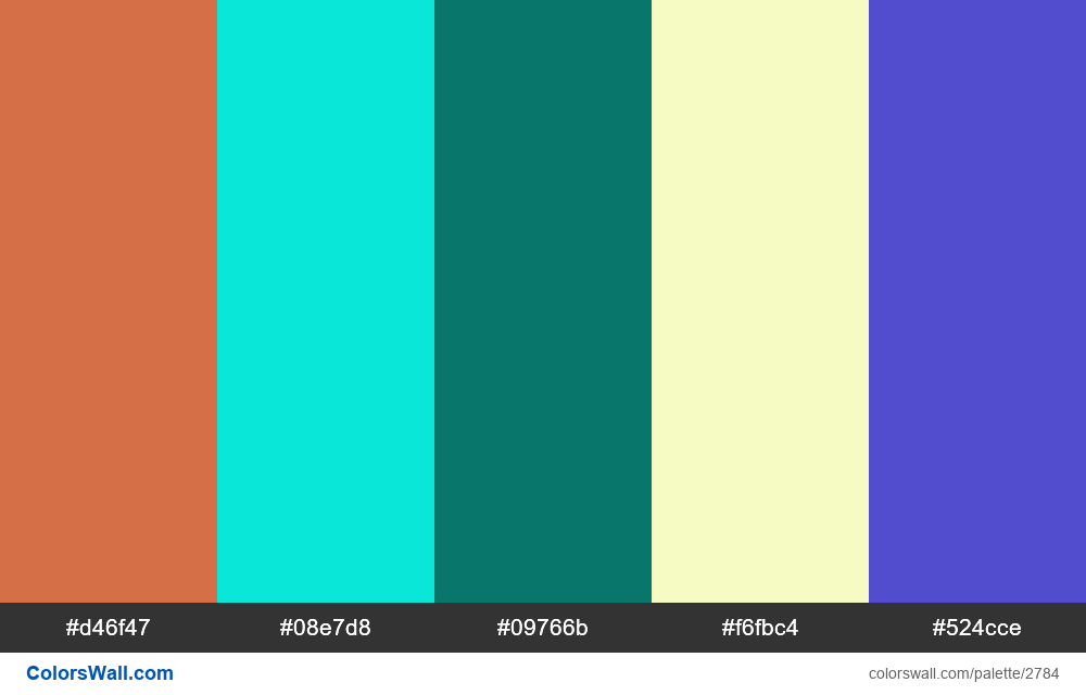 Daily colors palette #33 - #2784