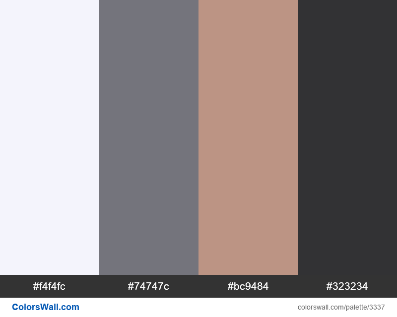 Daily colors palette 349 - #3337