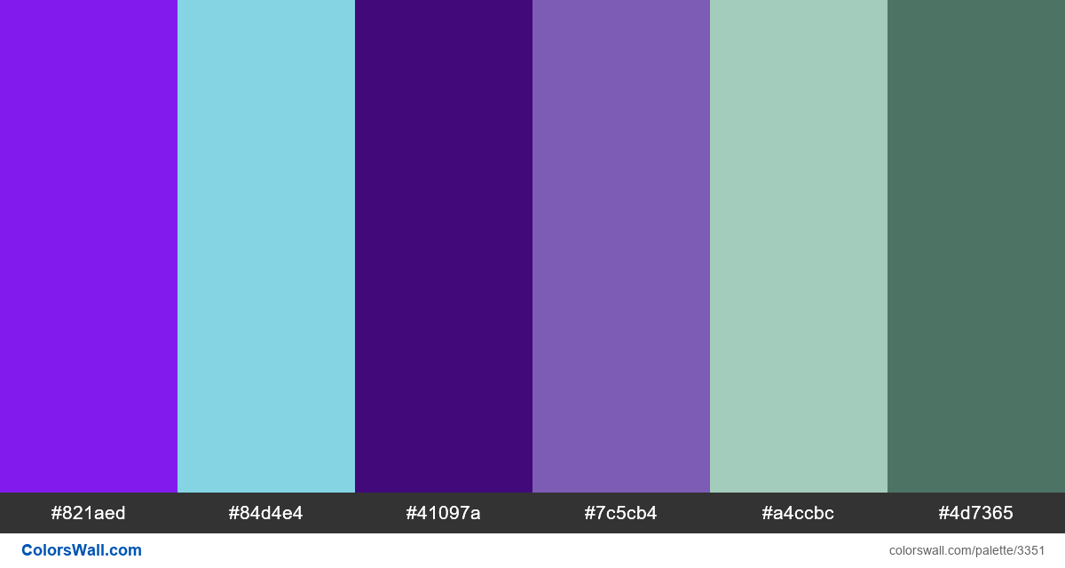 Daily colors palette 358 - #3351