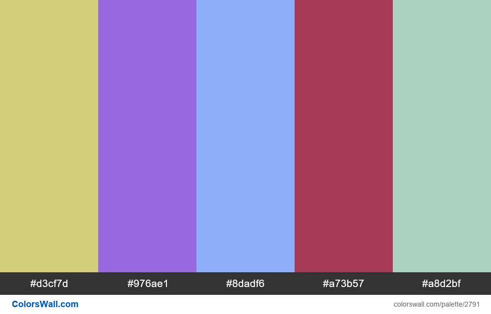 Daily colors palette #37 - #2791