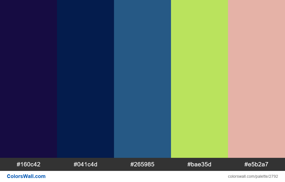 Daily colors palette #38 - #2792
