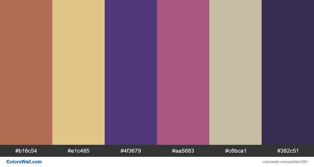 Daily colors palette 387 - #3381