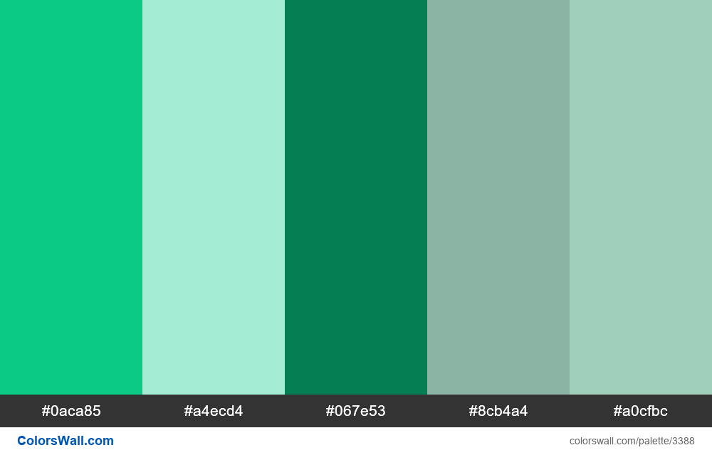 Daily colors palette 394 - #3388