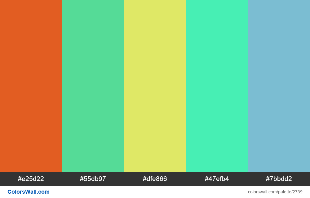 Daily colors palette #4 - #2739