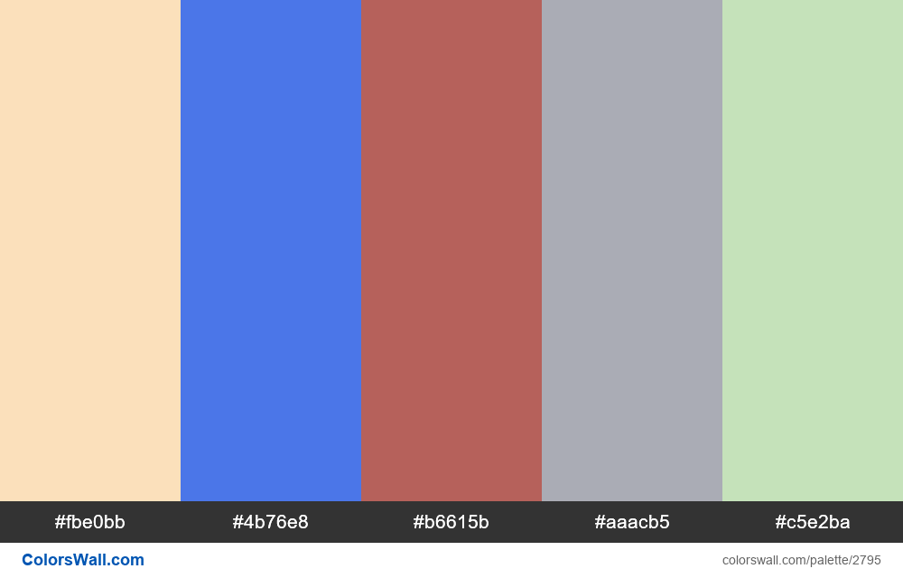 Daily colors palette #41 - #2795