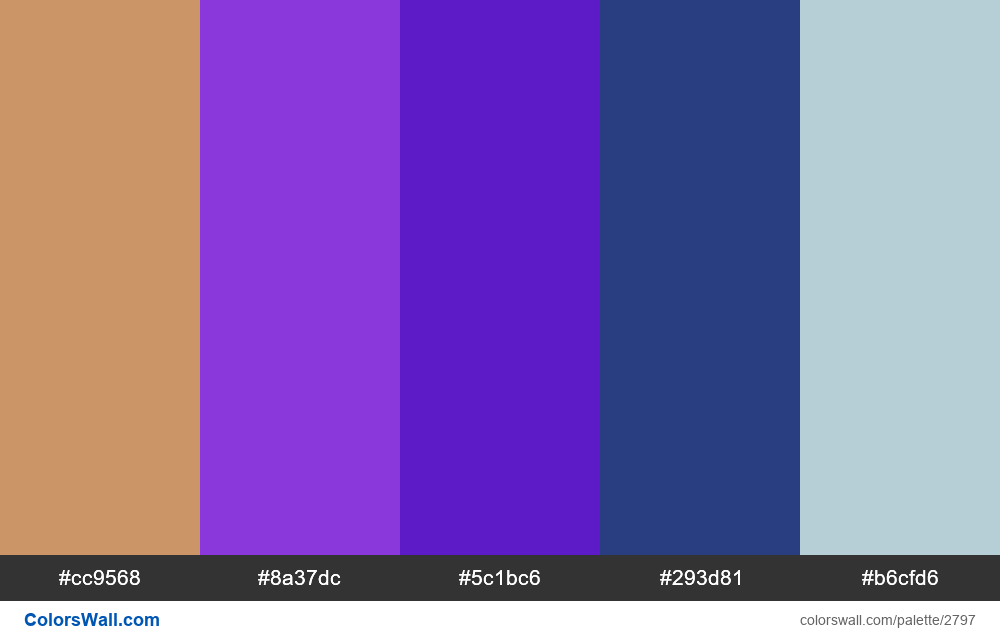 Daily colors palette #43 - #2797