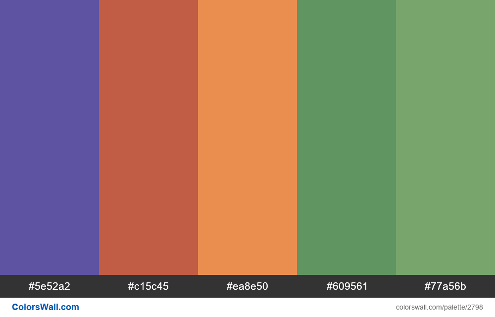 Daily colors palette #44 - #2798