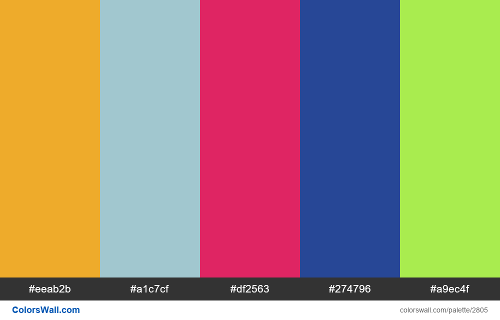 Daily colors palette #49 - #2805