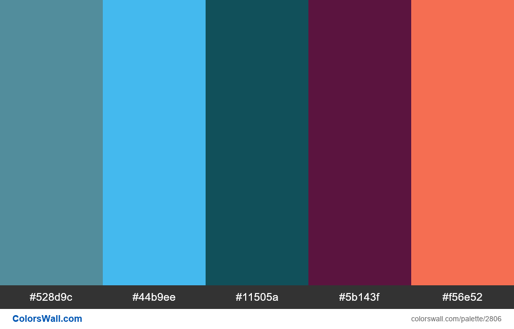 Daily colors palette #50 - #2806