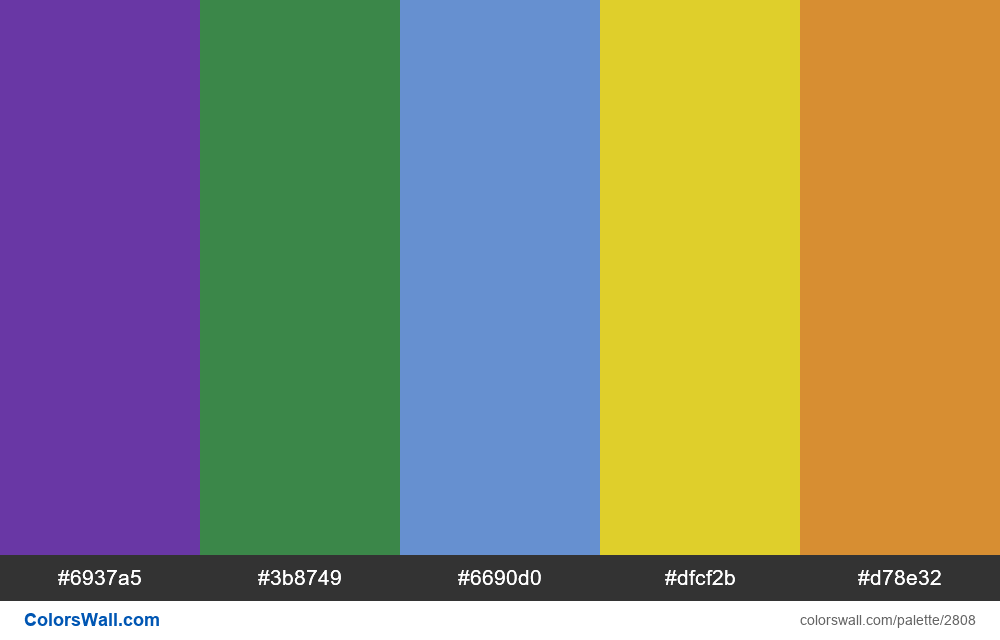 Daily colors palette #52 - #2808