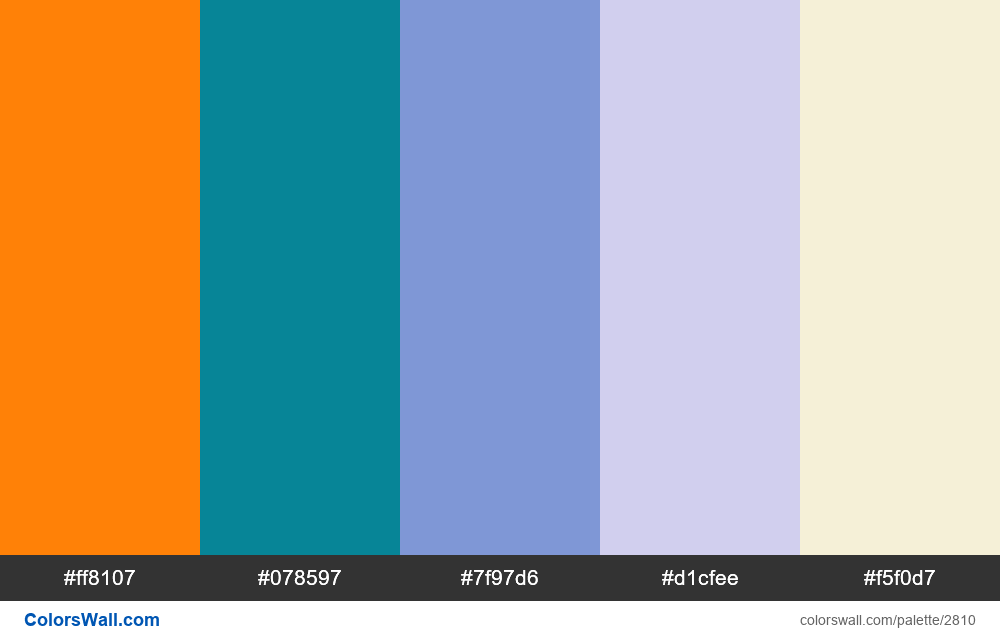 Daily colors palette #54 - #2810