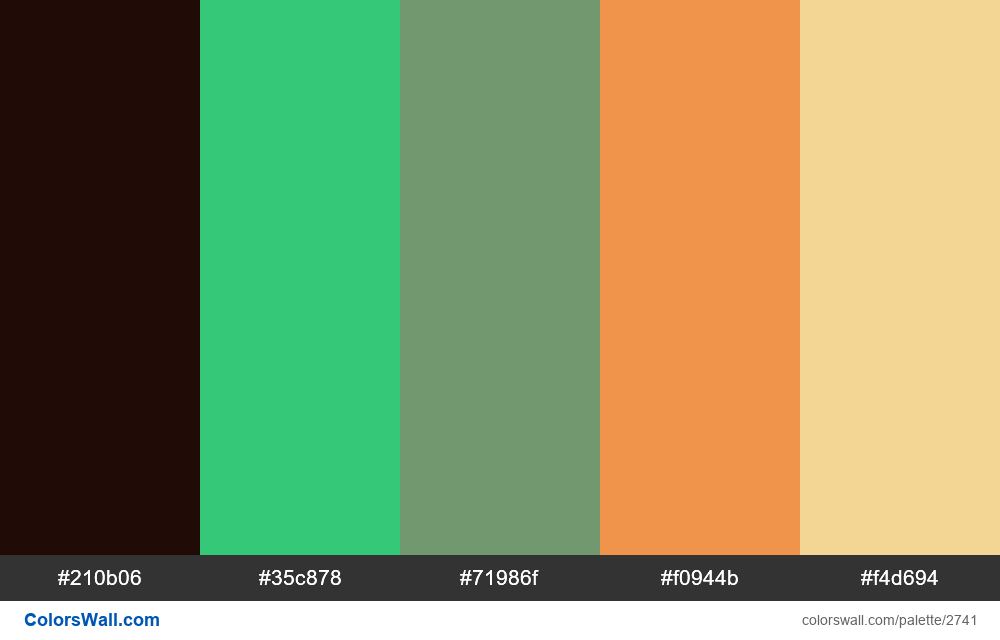 Daily colors palette #6 - #2741