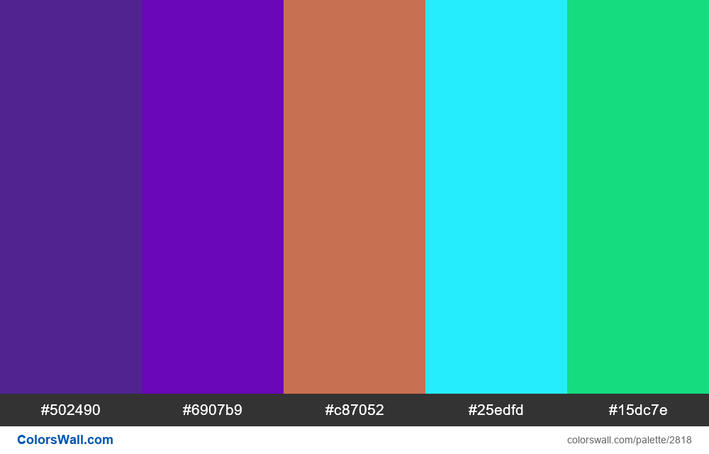 Daily colors palette #62 - #2818