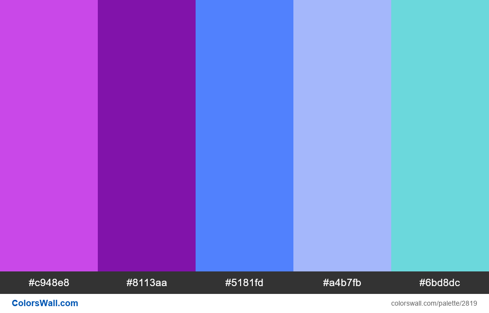 Daily colors palette #63 - #2819