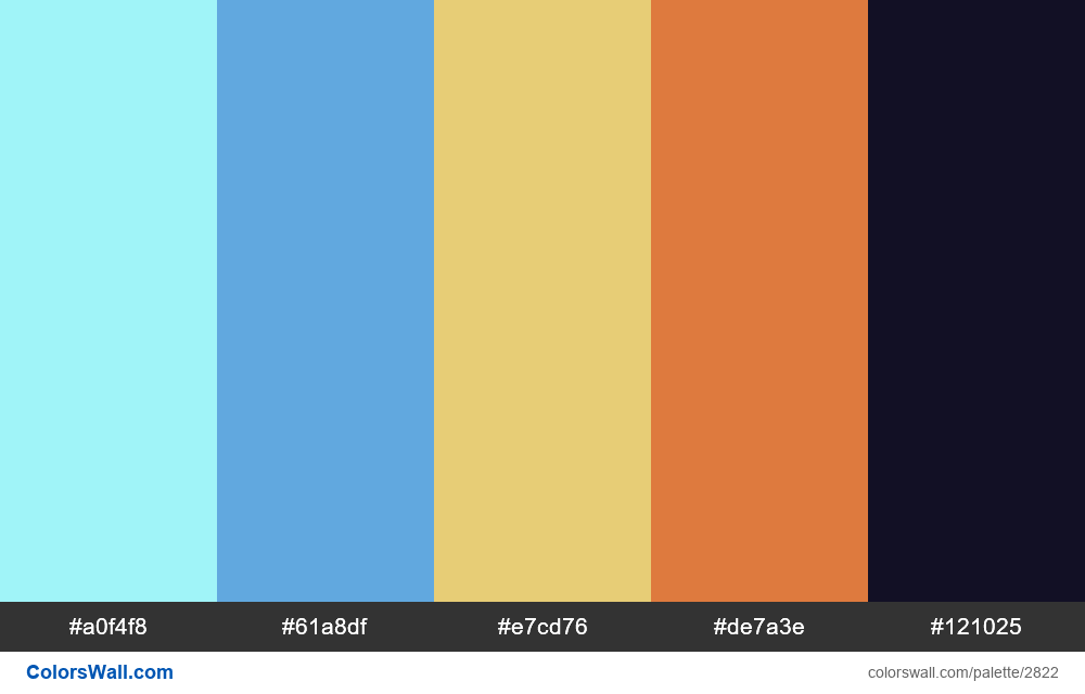 Daily colors palette #65 - #2822