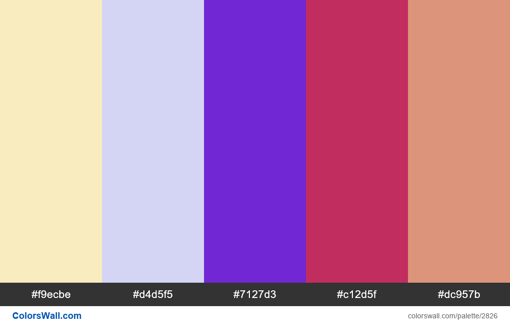 Daily colors palette #69 - #2826