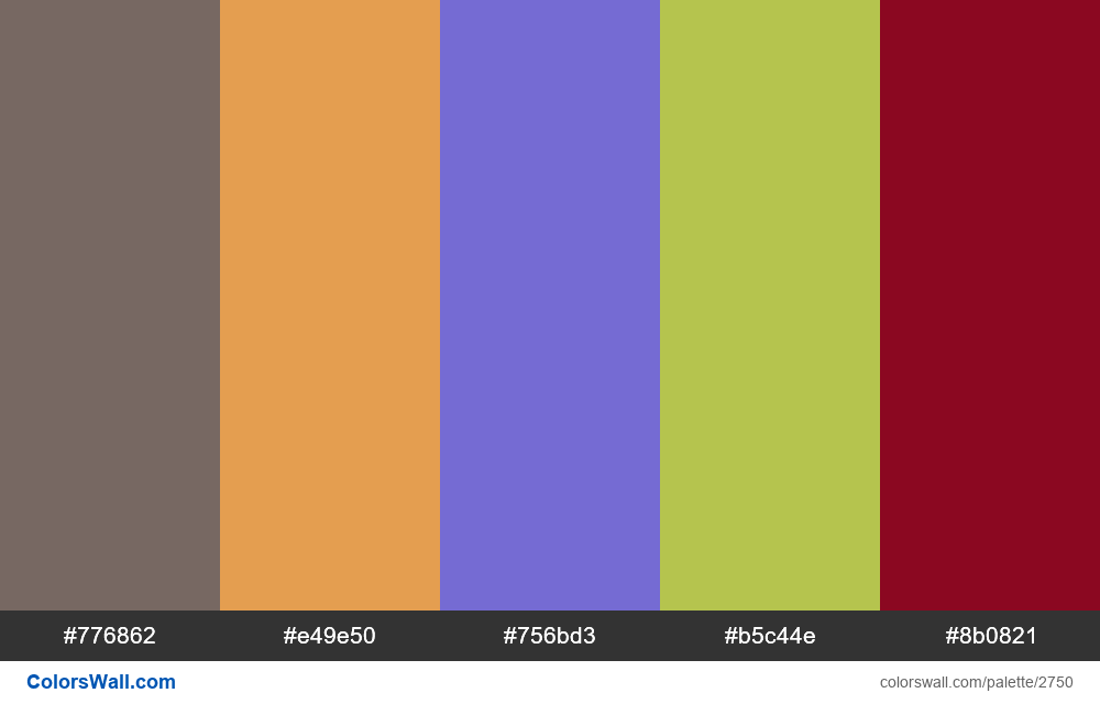 Daily colors palette #7 - #2750
