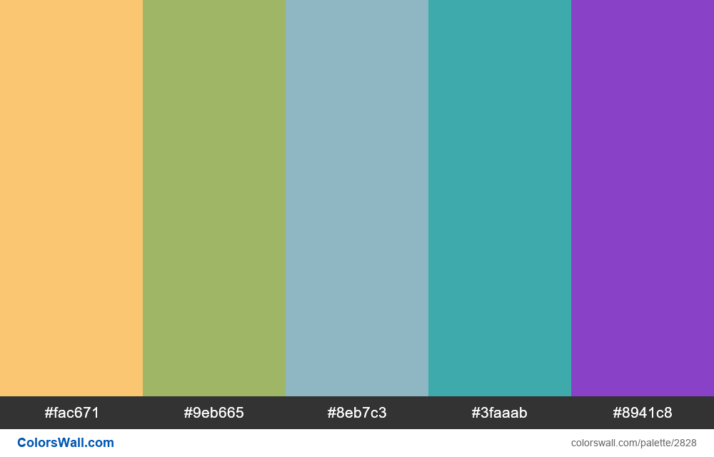 Daily colors palette #71 - #2828