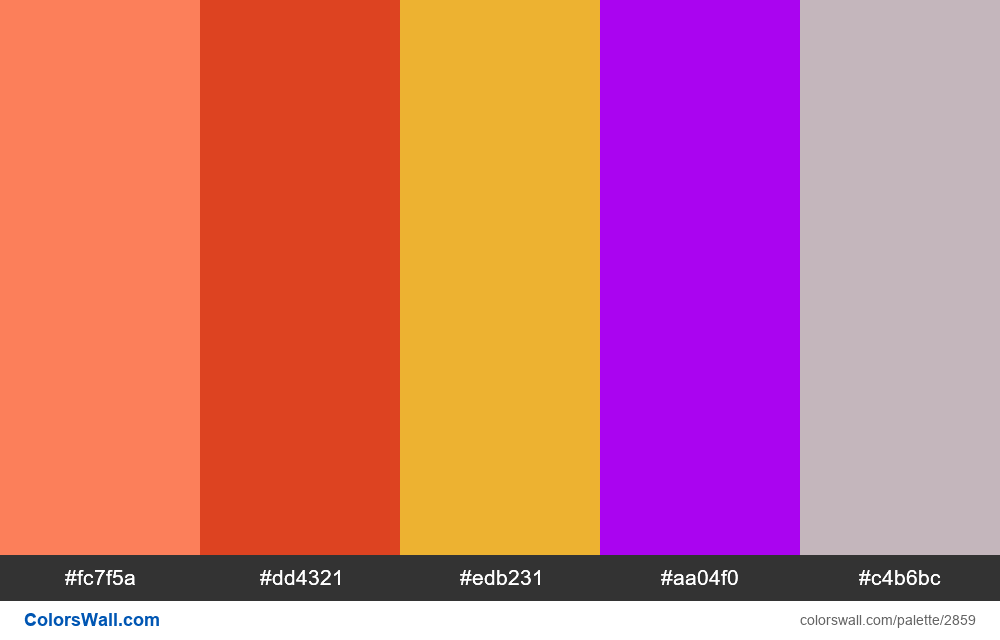 Daily colors palette #83 - #2859