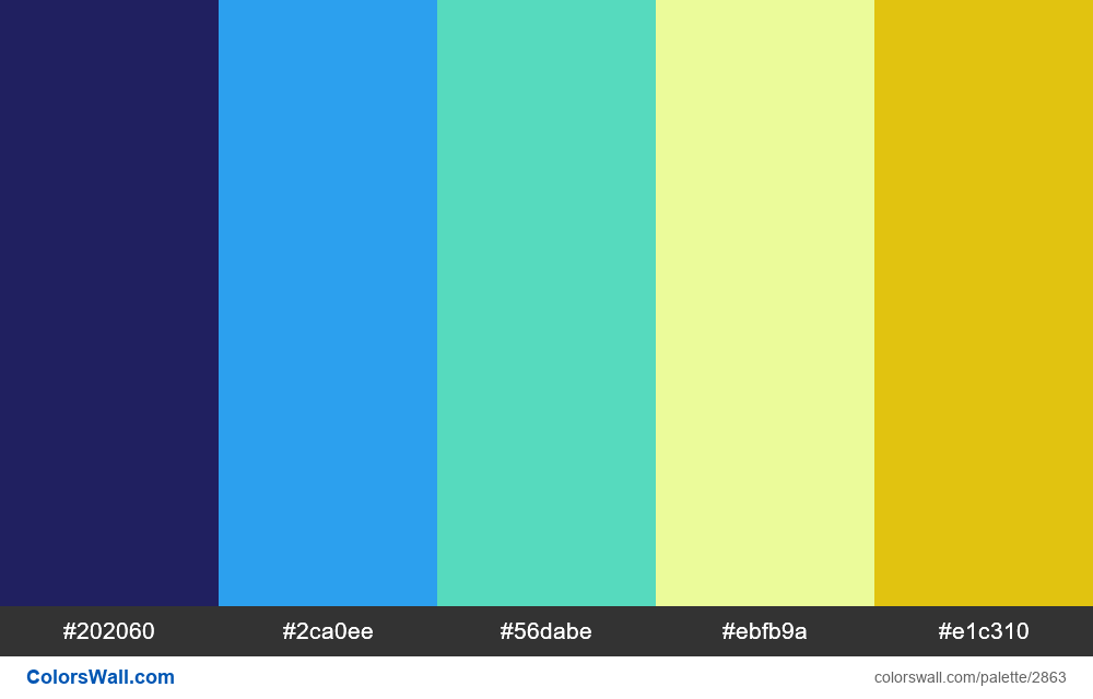 Daily colors palette #86 - #2863