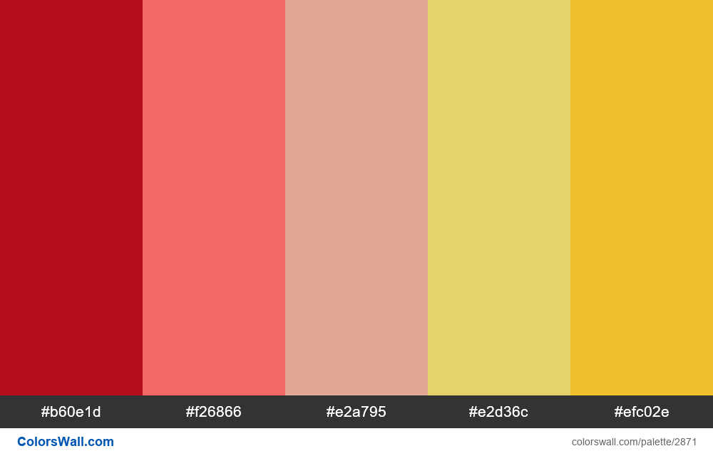 Daily colors palette #89 - #2871