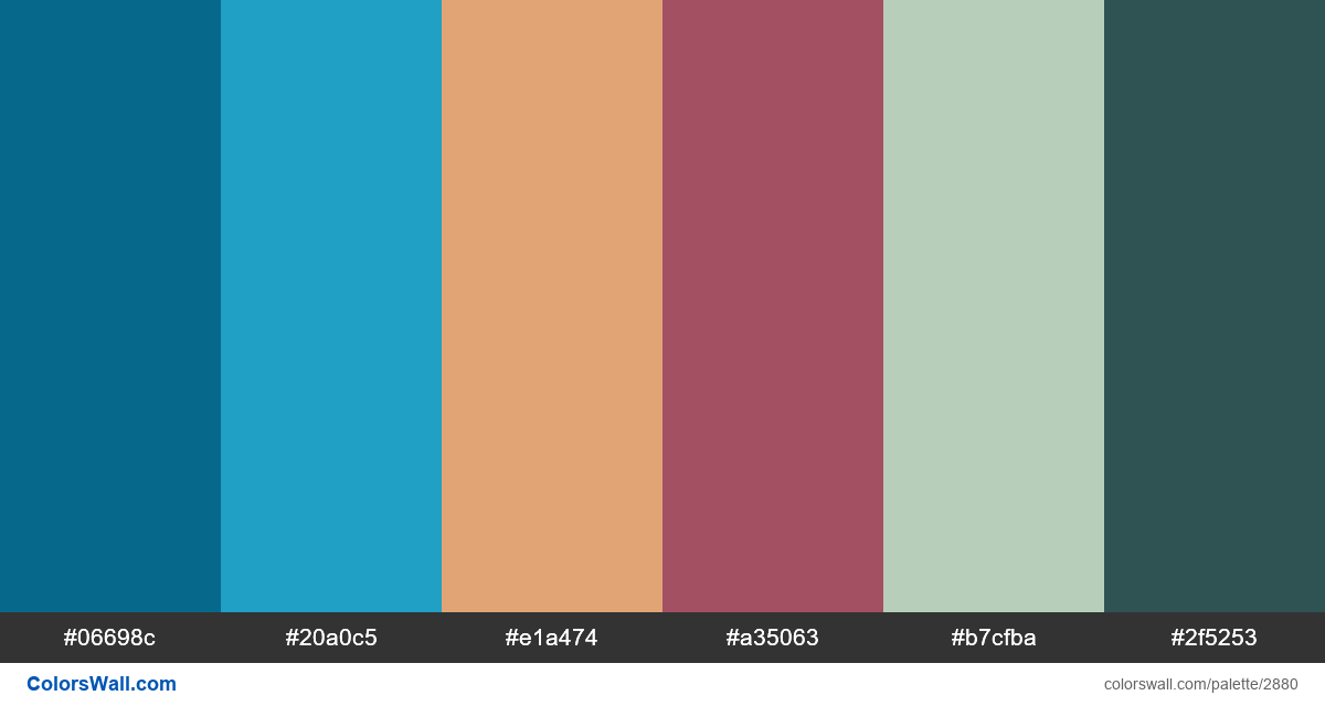 Daily colors palette #92 - #2880