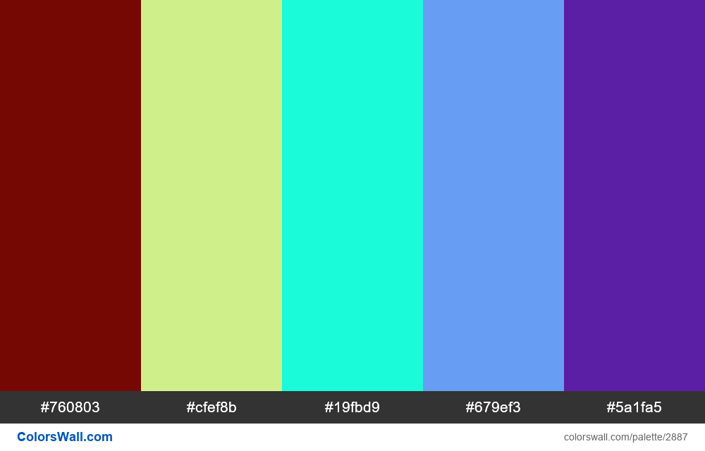 Daily colors palette #95 - #2887