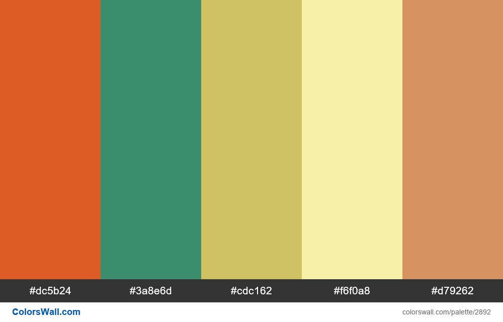 Daily colors palette #97 - #2892