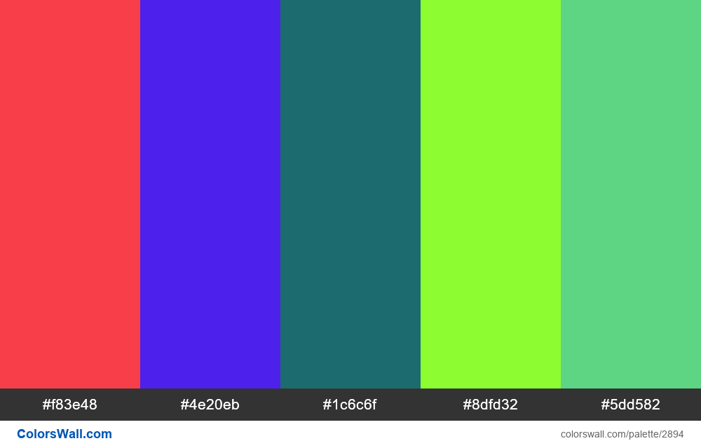 Daily colors palette #99 - #2894