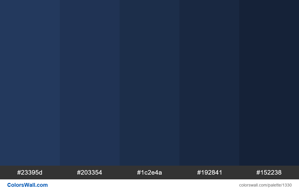 Dark blue shades colours - #1330