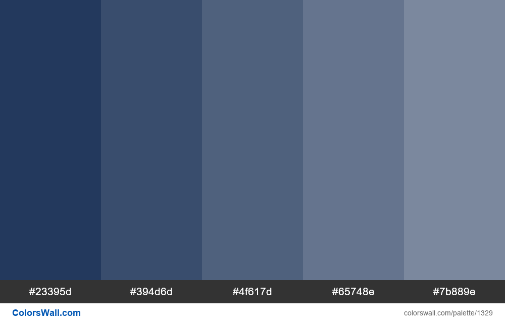 Dark blue tints colours - #1329