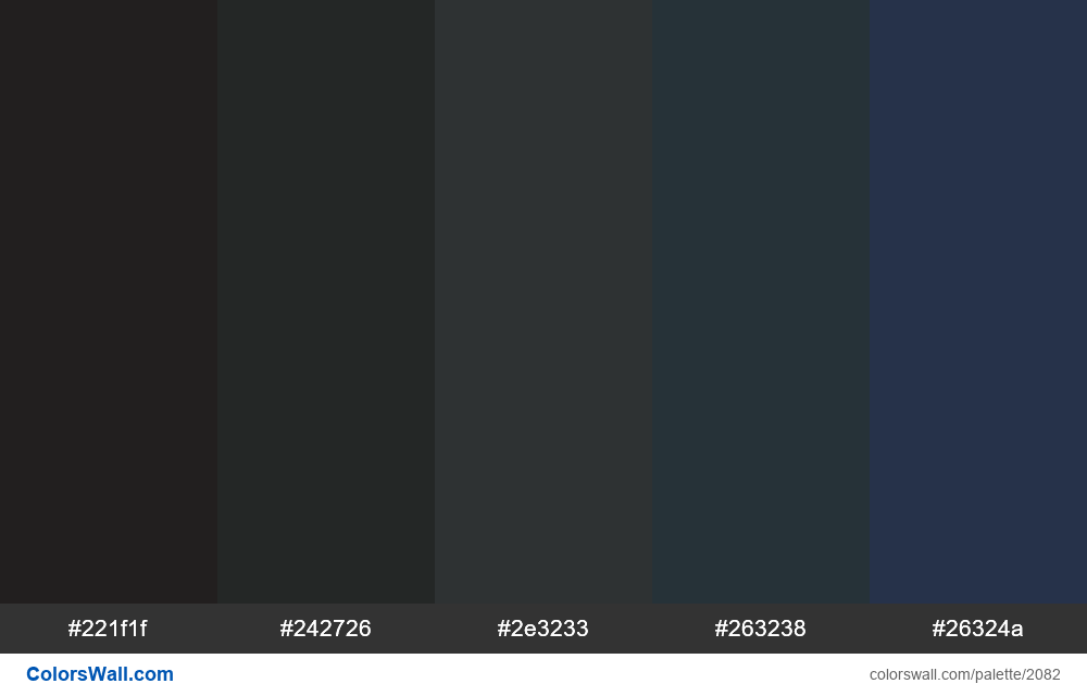 Dark color palette blue - #2082
