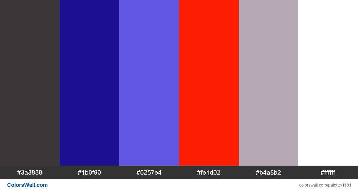 Dark Dashboard color palette - #1181