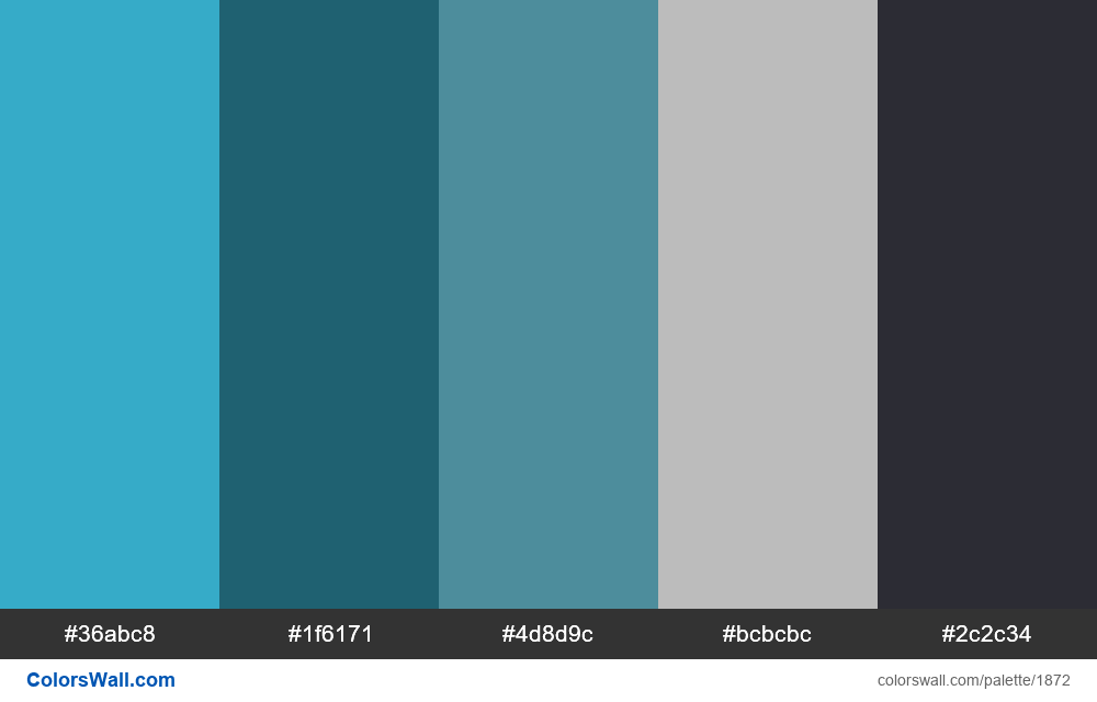 Dashboard app colors palette - #1872