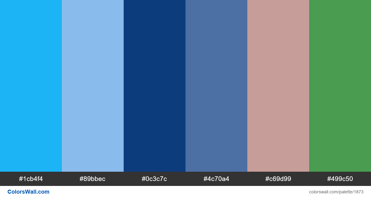 Dashboard app colors palette - #1873