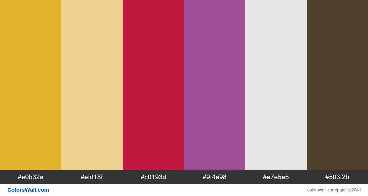 Dashboard app colors palette 2019 - #2641