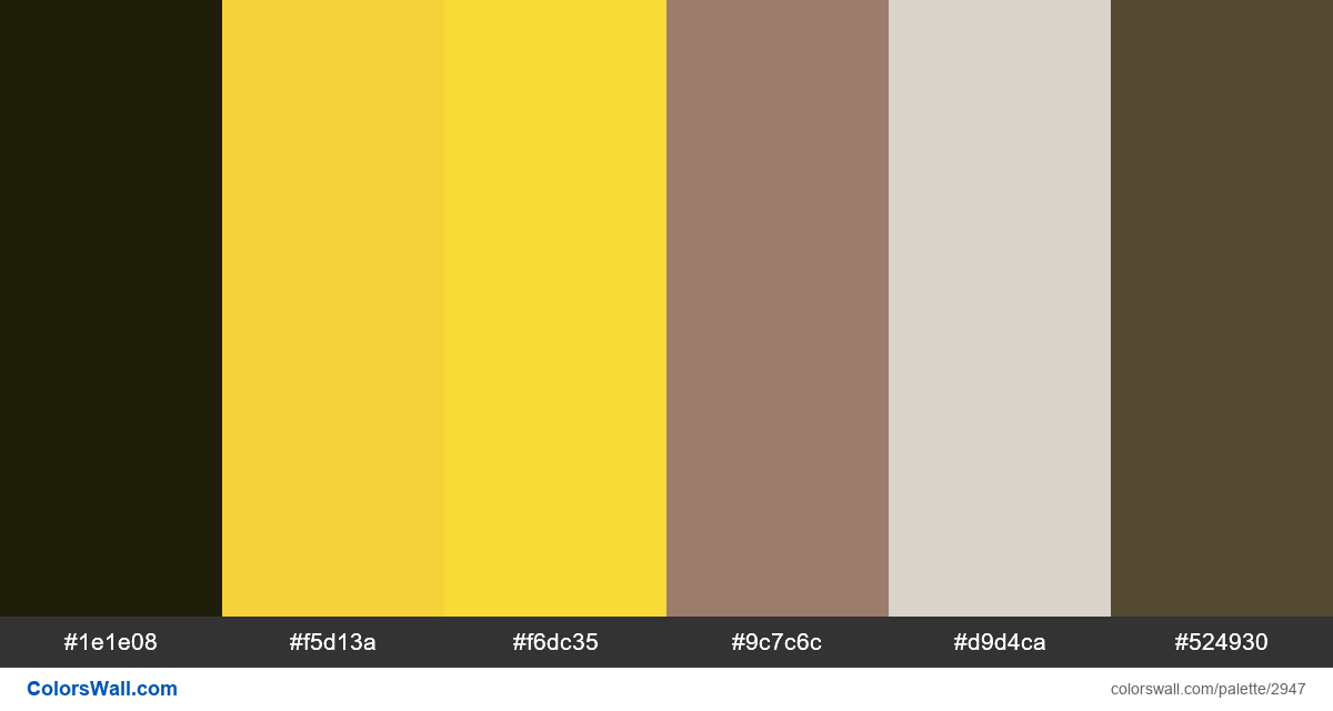Dashboard app colors palette black yellow primary - #2947