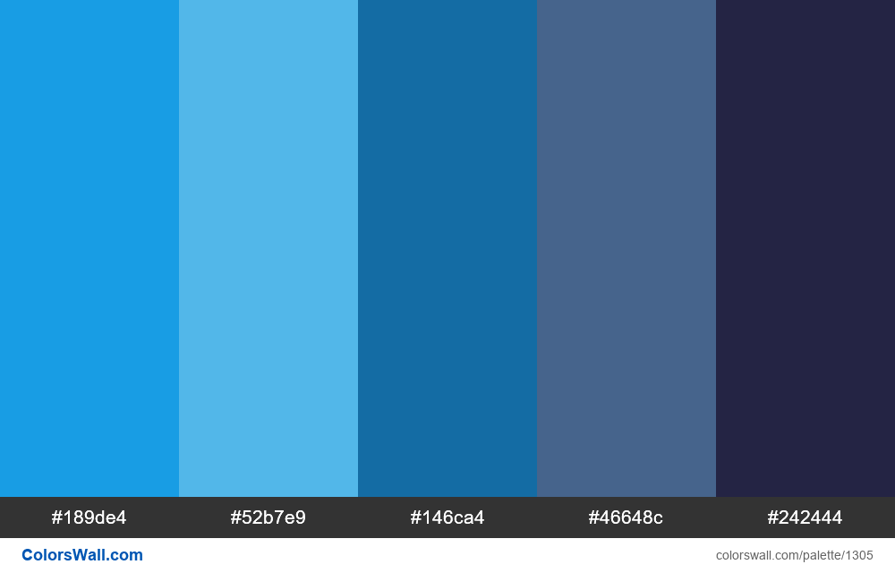 Dashboard Application Dark Blue Colors Palette Hex Rgb Codes