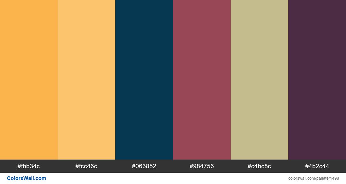 Data Visualization colors palette - #1498