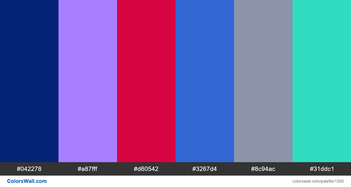 Data Visualization dashboard colors palette - #1500